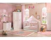 Babyzimmer komplett Set 5-teilig Mädchenzimmer weiß Selena