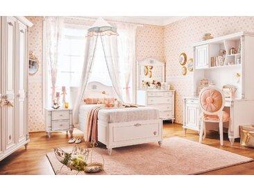 Kinderzimmer Set Mädchen Kindermöbel Weiß Jugendzimmer komplett 3-tlg Romantic