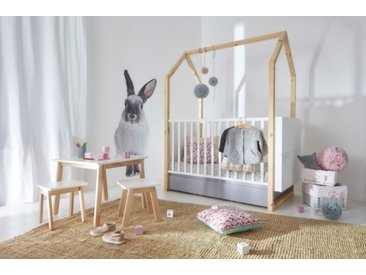 Babybett 70x140 umbaubar Kinderbett  Holz  Bett Dinky Castle