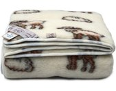 Wolldecke, Merino Standard Wohndecke Felldecke Kuscheldecke, Weiß Schaf