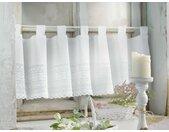 Vorhang »Fenstervorhang Gardine Vorhang Scheibengardine Weiß Häkelmuster 40 x 140«, Fensterfertig, Schlaufen, Romantische Spitze