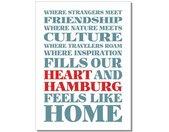 Handtuch »Geschirrtuch Heart Hamburg«