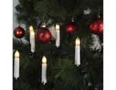 Christbaumkerzen »Kerzenkette - 25 warmweiße Kerzen - Indoor - Ring - E10 Fassung - H: 11cm, L: 12m - weiß«, 25-flammig, weiß