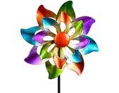 Gartenfigur »Buntes Windrad Blume für den Garten aus Metall«, bunt