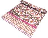 Tagesdecke »Blockdruck Tagesdecke, Bett & Sofaüberwurf,..«, rosa