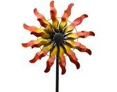 Gartenstecker »Windrad Gartendeko Metall Wellen Sonne gold 167,5 cm« (1-St) Widerstandsfähig & witterungsbeständig