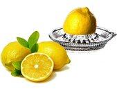 Entsafter Zitronenpresse aus Glas mit Ausgießer − manuelle Zitronen, Limetten & Orangen Presse − Zitruspresse Orangenpresse Saftpresse für Zitrusfrüchte (1 Stück)