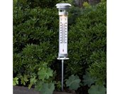 Dekolicht »LED Solar Thermometer CELSIUS für Garten H: 57,5cm Dämmerungssensor silber«