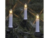 Christbaumkerzen »Kerzenkette - 25 warmweiße Kerzen - Outdoor - Strang - E10 Fassung - H: 11,5cm, L: 12m - weiß«, 25-flammig