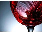 Platzset, »Tischsets I Platzsets - Rotwein Glas - 12 Stück aus hochwertigem Papier 44 x 32 cm«, (12-St), rot