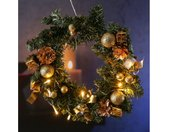 Dekokranz »LED Tannenkranz Dekoranz Türkranz Weihnachtskranz D: 30cm 10 LED für Innen gold«