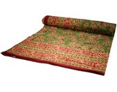 Tagesdecke »Blockdruck Tagesdecke, Bett & Sofaüberwurf,..«, grün