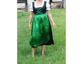 Kostüm »Dirndl lang mit Bluse und grüner Schürze - Oktoberfest - Tracht«