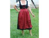 Kostüm »Dirndl lang mit Bluse und roter Schürze - Oktoberfest - Tracht«