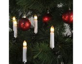 Christbaumkerzen »Kerzenkette - 16 warmweiße Kerzen - Indoor - Ring - E10 Fassung - H: 11cm, L: 7,50m - weiß«, 16-flammig, weiß