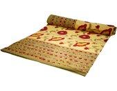 Tagesdecke »Blockdruck Tagesdecke, Bett & Sofaüberwurf,..«, gelb
