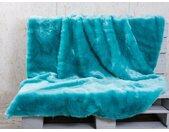 Wohndecke » Decke SHERIDAN Felldecke Aqua Türkis«