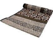 Tagesdecke »Blockdruck Tagesdecke, Bett & Sofaüberwurf,..«, grau