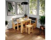 Sitzbank »Küchenbank Roman eiche Eckteil Sitzecke gepolstert Ablagen Eckbank Küche«, 43,5 x 78 cm, Sandeiche