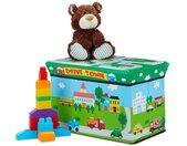 Spielzeugtruhe »Spielzeugkiste faltbar mit Deckel«, Grün Hellblau