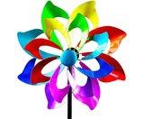 Gartenfigur »Buntes XXL Windrad Blume für den Garten aus Metall«, bunt