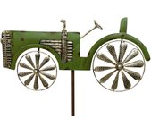 Gartenstecker »Gartenstecker Metall Traktor XL 135 cm Trecker Grün 96005 Windspiel Windrad Wetterfest Gartendeko Garten Gartenstab Bodenstecker«