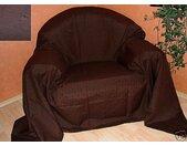 Überwurf »Überwurf Sofaüberwurf Tagesdecke, schoko, 275 x 275cm, Textil schmutzabweisend, «