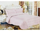 Tagesdecke »3-Teilige Bettdeckenbezug Tagedecke mit schönem Design Bettdecke Doppelbett Kopfkissen Polyester Decke 220 x 240 cm in Rosa«