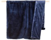 Wohndecke » Decke CHAMPAGNE Felldecke Blau 140x190«