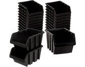 Stapelbox »Set 28 Stück schwarz Größe 19,5x12x9cm« (28 Stück), 28 St., Schwarz