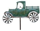 Gartenstecker »Gartenstecker Metall Oldtimer Auto XL 160 cm Grün 96102 Windspiel Windrad Wetterfest Gartendeko Garten Gartenstab Bodenstecker«