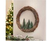 Adventskranz »Winterkranz Kranz Türdeko Weihnachtsdeko Wandkranz Tischdeko Tannen Eingangskranz Fensterdeko«