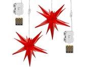 LED-Lichterkette »2er LED Sternenkette«, Rot