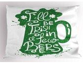Kissenbezug »Dekorativer Standard King Size Gedruckter Kissenbezug,«, Irish Pub Lustige Wörter auf Bierkrug