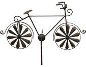 Gartenstecker »Gartenstecker Metall Fahrrad XL 135 cm Rad Rost Braun 96004 Windspiel Windrad Wetterfest Gartendeko Garten Gartenstab Bodenstecker«