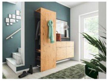 Garderobe Porta 3 tlg Schuhschrank Paneel Spiegel 14 Paar Schuhe Oak