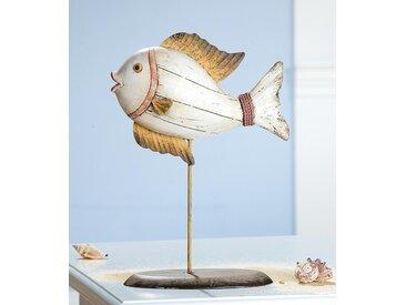Gilde Deko Fisch auf Metallstab
