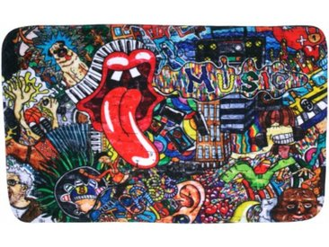 Badteppich Graffiti 70 x 110 cm