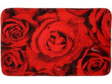 Badteppich Rosen 70 x 110 cm