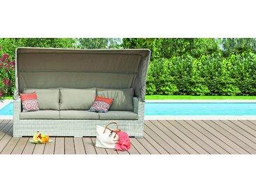 Gartenlounge Antonella - mit abnehmbaren Dach - braun
