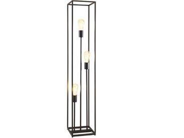 Stehleuchte Hamper, 3-flammig, schwarz, ca. 22x120x22 cm