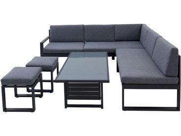 Lounge Set Lina, Gestell Metall, Alu, LR-CO0108001, grau, Stoff LR-TS0001002