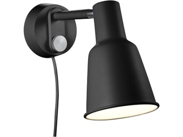 design for the people Patton Wandleuchte E27, schwarz Dimmer inkl.