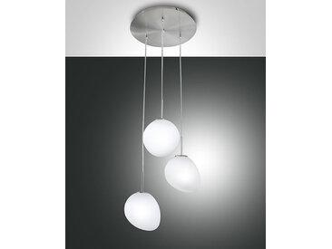 Fabas Luce Evo LED Pendelleuchte nickel satiniert