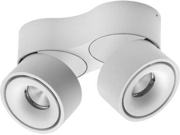 Lumexx Double LED Aufbauleuchte weiß/weiß 2x10W, 2x680lm, 2700k
