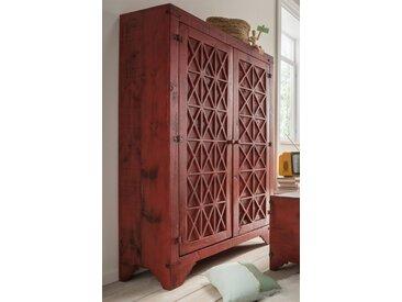Hochzeitsschrank 105x160cm 'Siesta' Pinie gewachst Rot