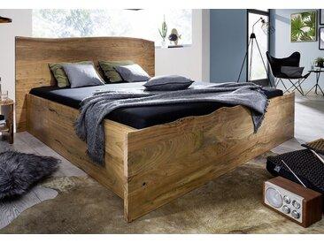 Doppelbett 180x200cm 'Dakar' Akazie massiv lackiert