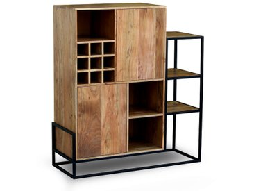 Highboard 120x135cm 'Denver' Akazie & Metall