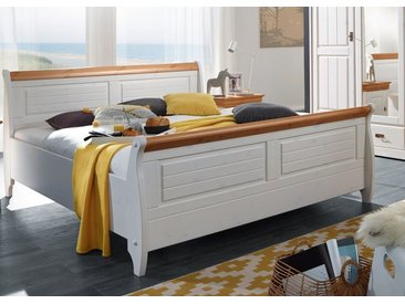 Bett 180x200cm 'Mailand-Honig' Kiefer weiß