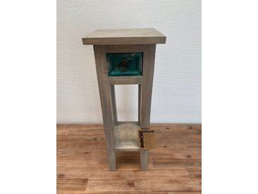 """Blumensäule 25x67cm """"Style your Life"""" recyceltes Holz"""